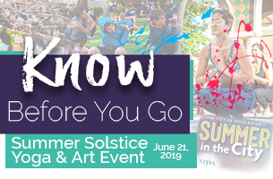 Know Before You Go Summer Solstice Yoga & Art Event, June 21, 2019